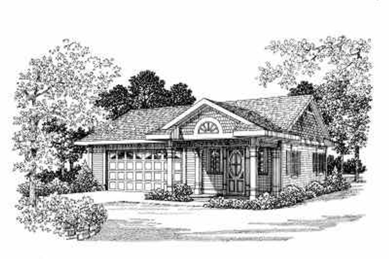Traditional Exterior - Front Elevation Plan #72-264 - Houseplans.com