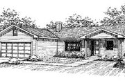 Traditional Style House Plan - 3 Beds 2 Baths 1280 Sq/Ft Plan #60-551 Exterior - Front Elevation
