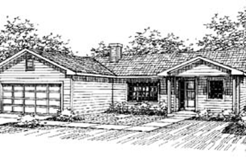 Traditional Exterior - Front Elevation Plan #60-551 - Houseplans.com