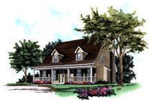 House Plan Design - Country Exterior - Front Elevation Plan #37-153