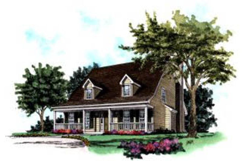 Architectural House Design - Country Exterior - Front Elevation Plan #37-153