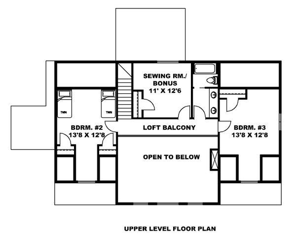 Dream House Plan - Farmhouse Floor Plan - Upper Floor Plan #117-897