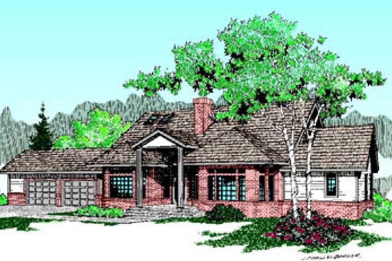 Traditional Exterior - Front Elevation Plan #60-195 - Houseplans.com