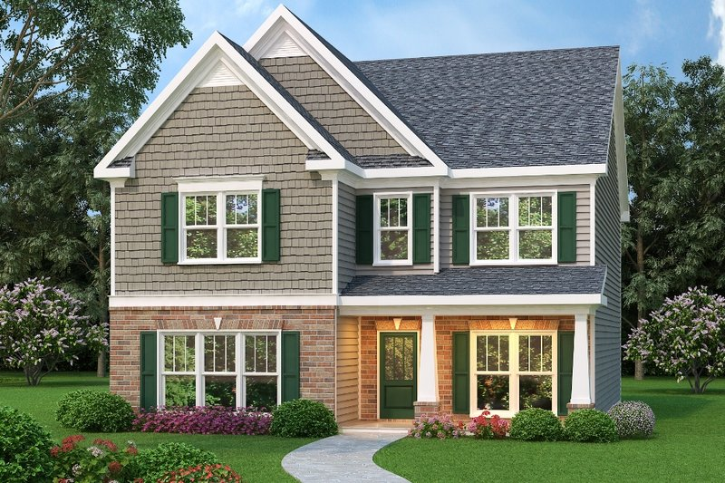Traditional Exterior - Front Elevation Plan #419-256