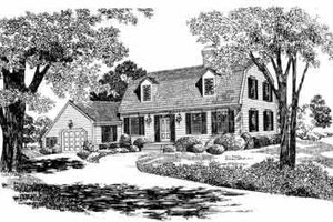 House Blueprint - Colonial Exterior - Front Elevation Plan #72-355