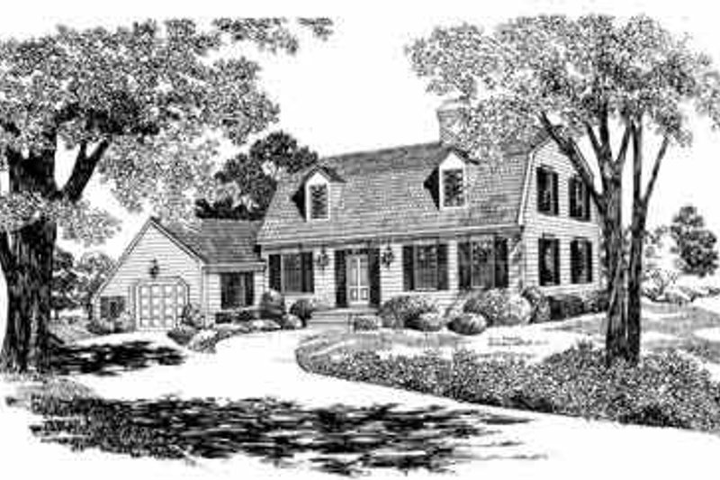 Home Plan - Colonial Exterior - Front Elevation Plan #72-355