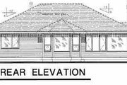 Traditional Style House Plan - 3 Beds 2 Baths 1325 Sq/Ft Plan #18-1028 Exterior - Rear Elevation