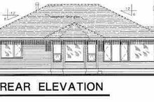 House Blueprint - Traditional Exterior - Rear Elevation Plan #18-1028