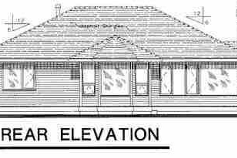 Traditional Exterior - Rear Elevation Plan #18-1028 - Houseplans.com