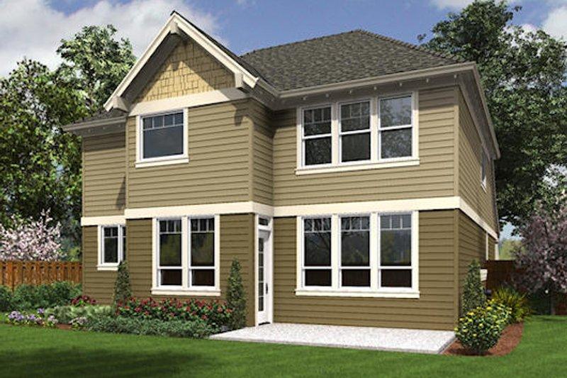 Craftsman Exterior - Rear Elevation Plan #48-514 - Houseplans.com