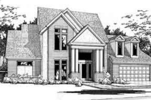 Traditional Exterior - Front Elevation Plan #120-107