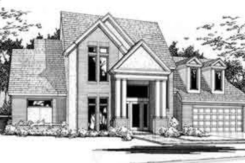 Traditional Exterior - Front Elevation Plan #120-107 - Houseplans.com
