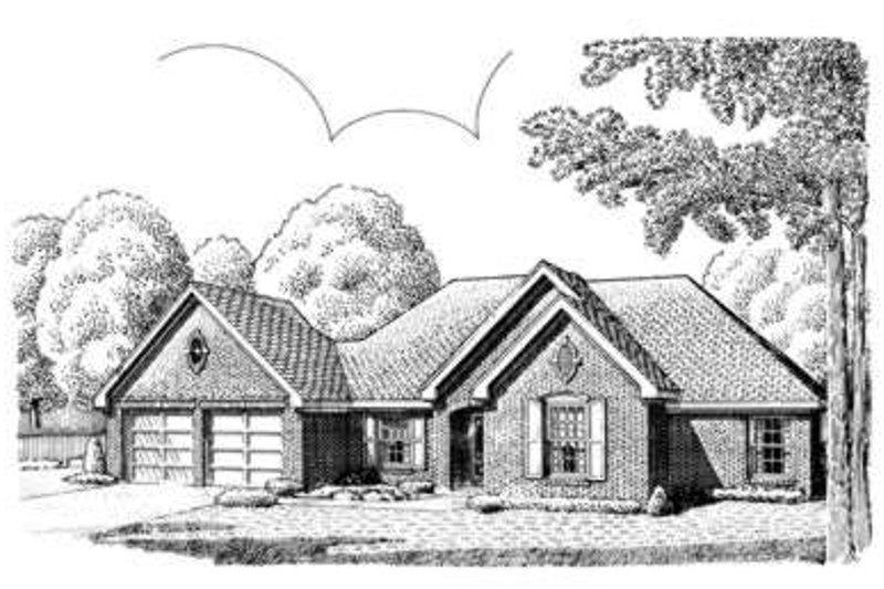 European Exterior - Front Elevation Plan #410-312 - Houseplans.com