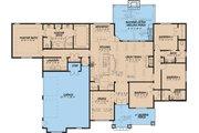 European Style House Plan - 4 Beds 3 Baths 2676 Sq/Ft Plan #923-19 Floor Plan - Main Floor Plan