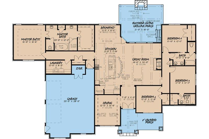 European Floor Plan - Main Floor Plan Plan #923-19