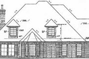 European Style House Plan - 4 Beds 3.5 Baths 3696 Sq/Ft Plan #310-339 Exterior - Rear Elevation