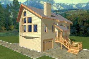 Home Plan Design - Modern Exterior - Front Elevation Plan #117-200