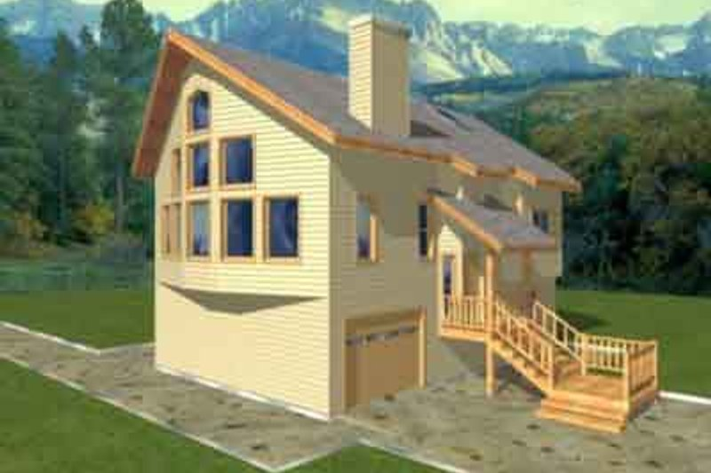 Modern Exterior - Front Elevation Plan #117-200 - Houseplans.com