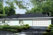 Ranch Style House Plan - 3 Beds 2 Baths 1488 Sq/Ft Plan #1-1263 Exterior - Front Elevation