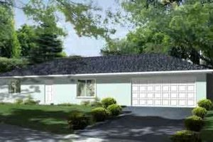 Ranch Exterior - Front Elevation Plan #1-1263