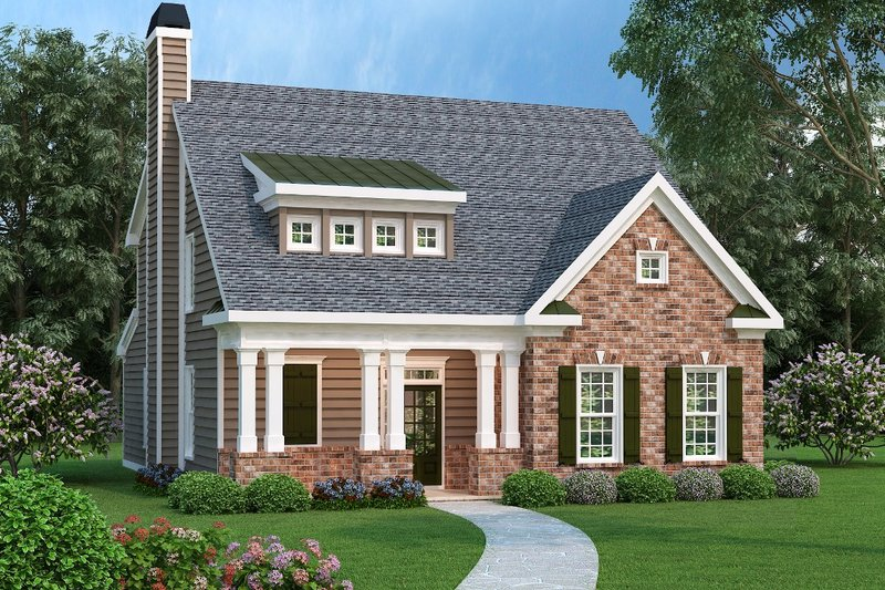 Country Exterior - Front Elevation Plan #419-183 - Houseplans.com
