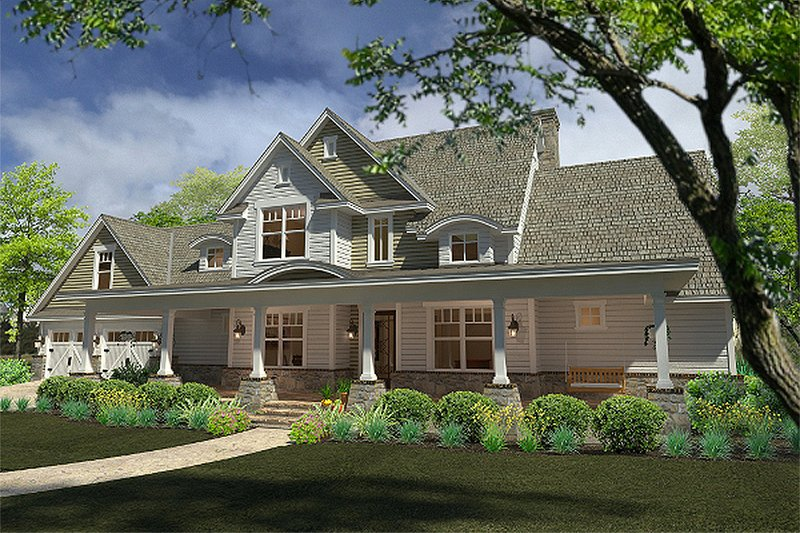Country Exterior - Front Elevation Plan #120-189 - Houseplans.com