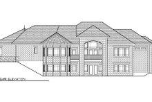 Dream House Plan - European Exterior - Rear Elevation Plan #70-1009