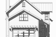 Beach Style House Plan - 3 Beds 2.5 Baths 2153 Sq/Ft Plan #901-131 Exterior - Rear Elevation