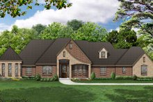 Dream House Plan - European Exterior - Front Elevation Plan #84-491
