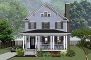 Country Style House Plan - 3 Beds 2.5 Baths 2124 Sq/Ft Plan #79-263 Exterior - Front Elevation