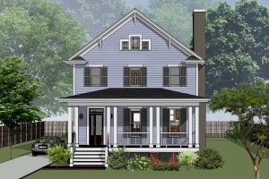 Country Exterior - Front Elevation Plan #79-263