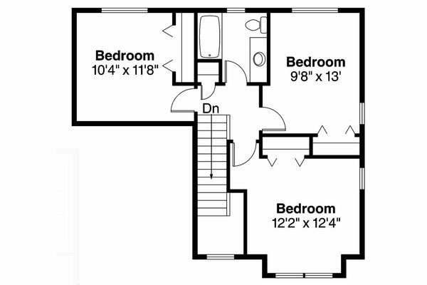 Country Floor Plan - Upper Floor Plan Plan #124-906