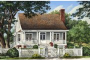 Southern Style House Plan - 3 Beds 3.5 Baths 2157 Sq/Ft Plan #137-261 Exterior - Front Elevation