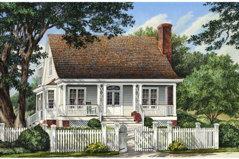 Southern Exterior - Front Elevation Plan #137-261