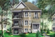 European Style House Plan - 3 Beds 1 Baths 4434 Sq/Ft Plan #25-4186 Exterior - Front Elevation