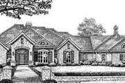 European Style House Plan - 4 Beds 4 Baths 2984 Sq/Ft Plan #310-280 Exterior - Front Elevation