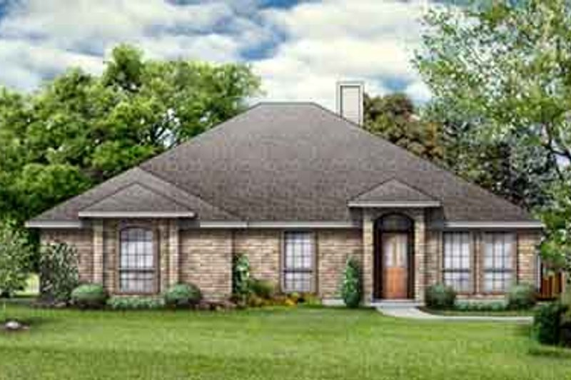 Traditional Style House Plan - 4 Beds 2 Baths 1867 Sq/Ft Plan #84-283 Exterior - Front Elevation