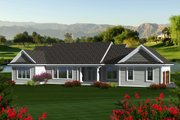 Traditional Style House Plan - 3 Beds 2.5 Baths 2164 Sq/Ft Plan #70-1135 Exterior - Rear Elevation