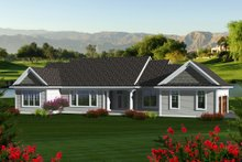 Dream House Plan - Traditional Exterior - Rear Elevation Plan #70-1135