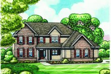 Dream House Plan - Traditional Exterior - Front Elevation Plan #20-2184