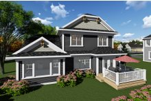 House Plan Design - Craftsman Exterior - Rear Elevation Plan #70-1265