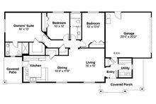 Traditional Floor Plan - Main Floor Plan Plan #124-851