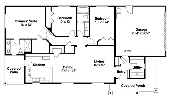 House Plan Design - Traditional Floor Plan - Main Floor Plan #124-851