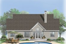 Dream House Plan - Country Exterior - Rear Elevation Plan #929-747
