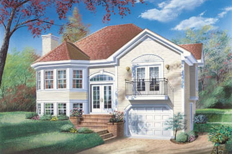 Traditional Style House Plan - 2 Beds 1 Baths 1174 Sq/Ft Plan #23-148 Exterior - Front Elevation