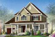 Country Style House Plan - 3 Beds 2 Baths 1708 Sq/Ft Plan #25-4576 Exterior - Front Elevation