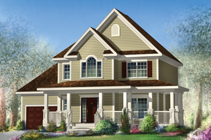 Country Exterior - Front Elevation Plan #25-4576