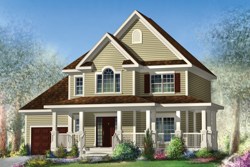 Country Style House Plan - 3 Beds 2 Baths 1708 Sq/Ft Plan #25-4576