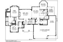 Ranch Floor Plan - Main Floor Plan Plan #70-1198
