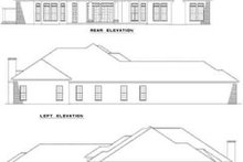 Home Plan - Exterior - Rear Elevation Plan #17-1045